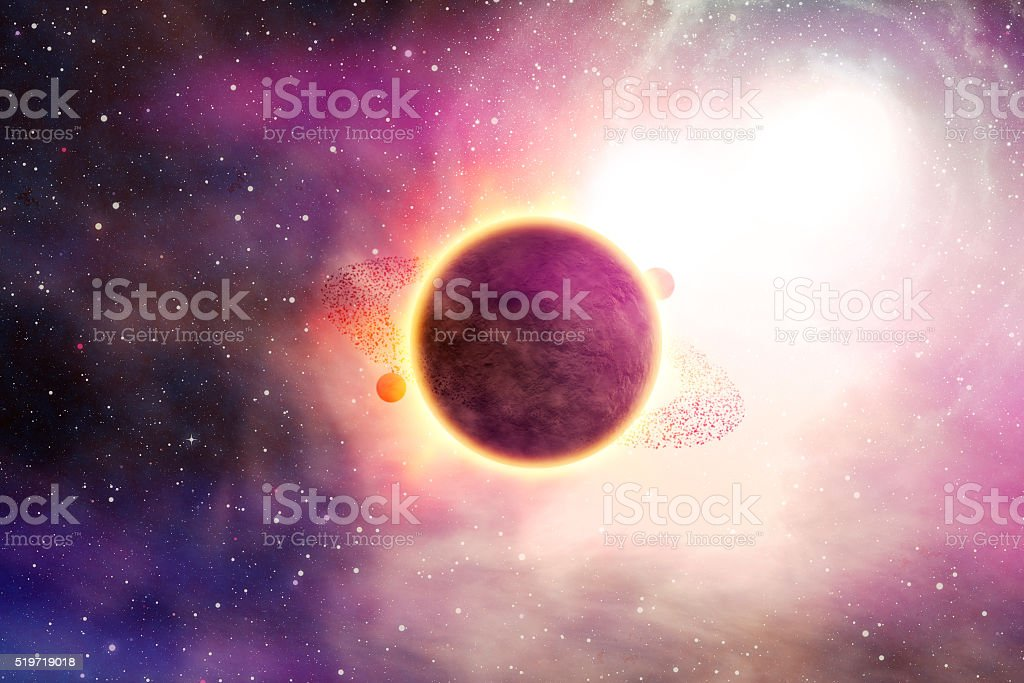 Conceptual universe and galaxies image stock photo