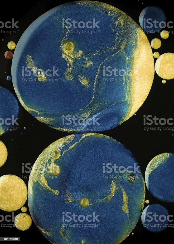 conceptual view on planets royalty-free stock photo