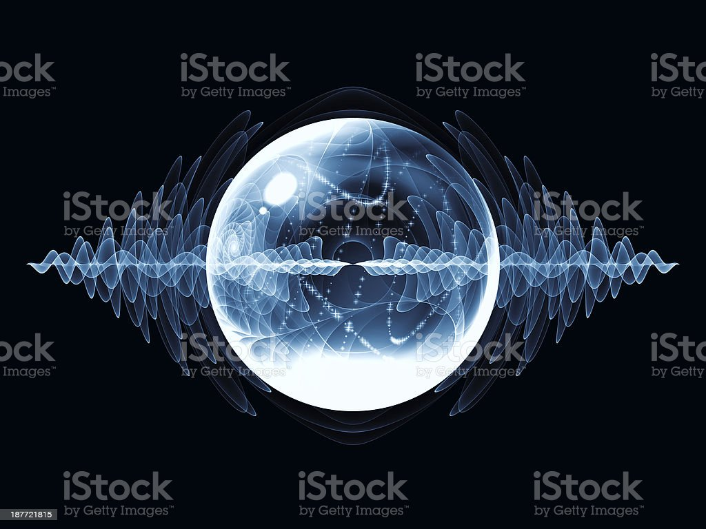 Conceptual Wave Particle royalty-free stock photo