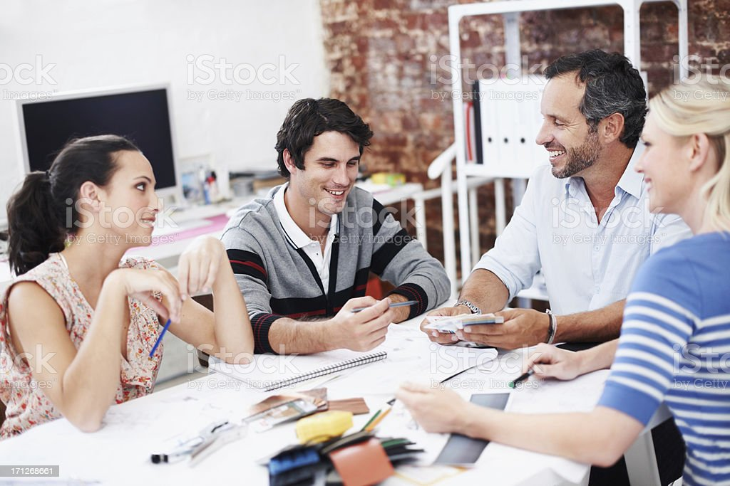 Conceptualizing their ideas royalty-free stock photo