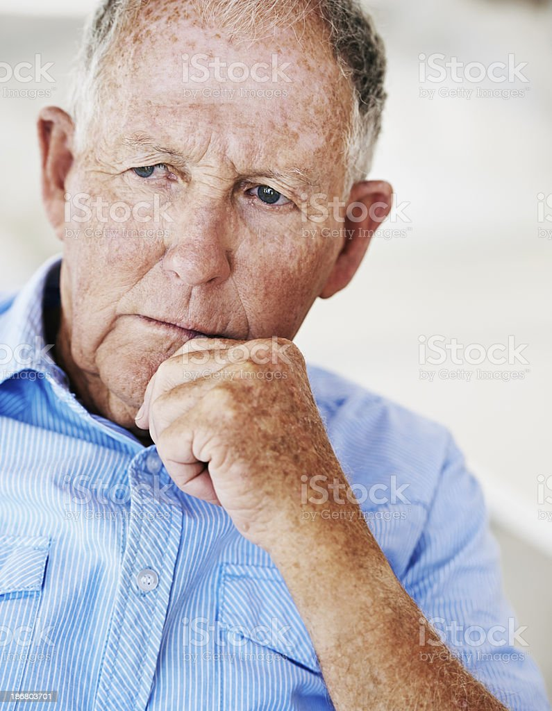Concerned about his retirement royalty-free stock photo