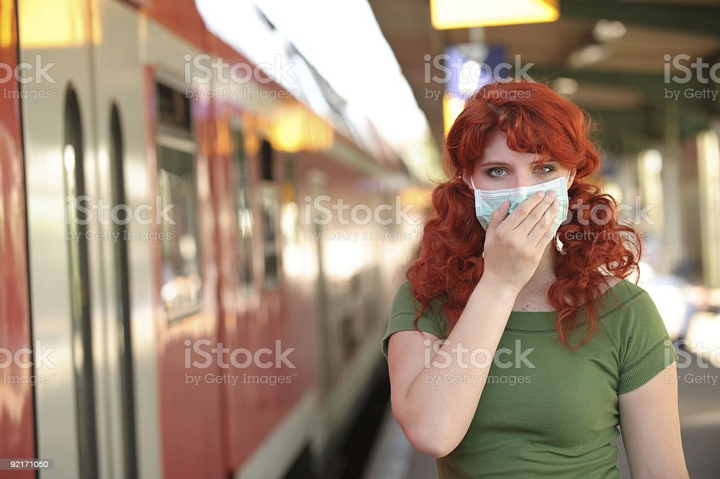 Concerned about Swine Flu royalty-free stock photo