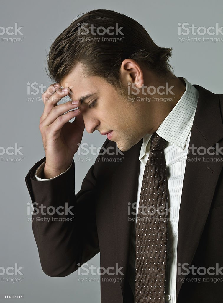 Concerned Business Man royalty-free stock photo