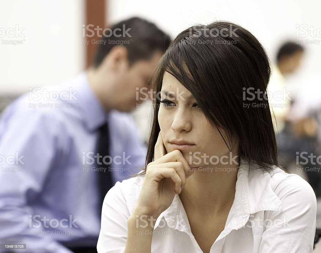 Concerned couple stock photo