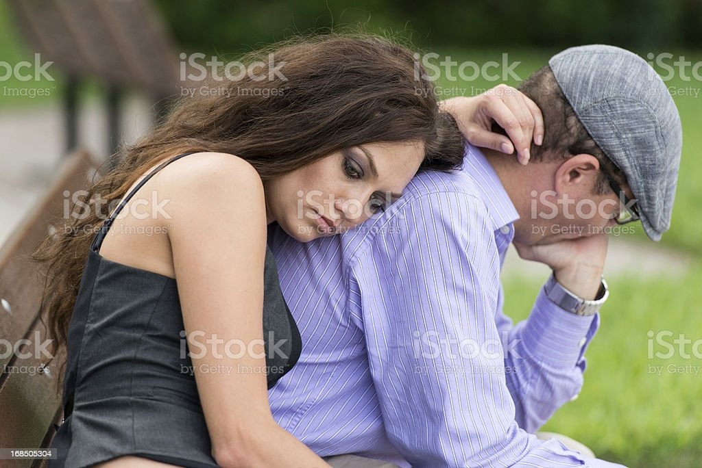 Concerned couple royalty-free stock photo