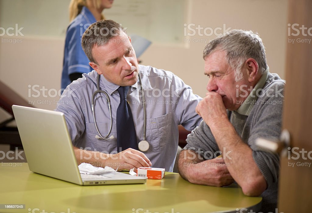 concerned gp stock photo