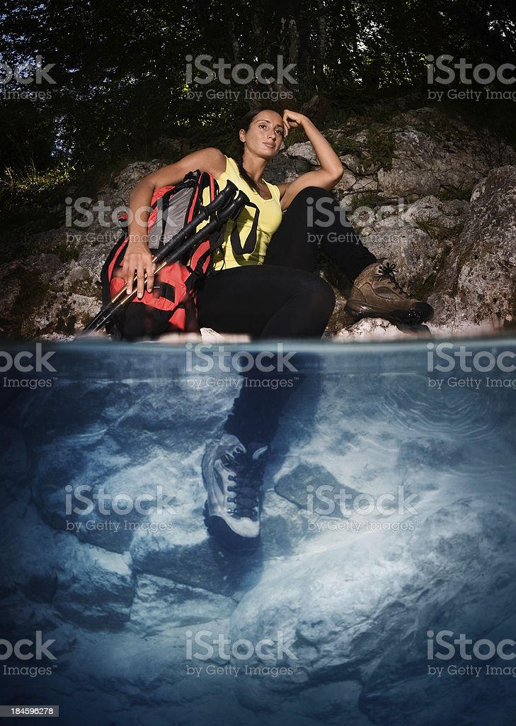 Concerned Hiker royalty-free stock photo