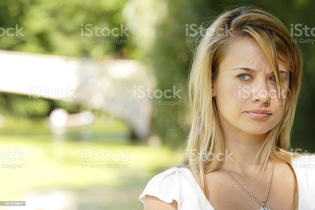 Concerned Look stock photo