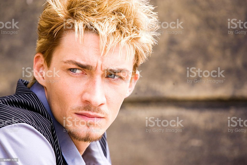 concerned look royalty-free stock photo