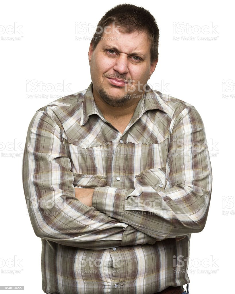 Concerned Man stock photo