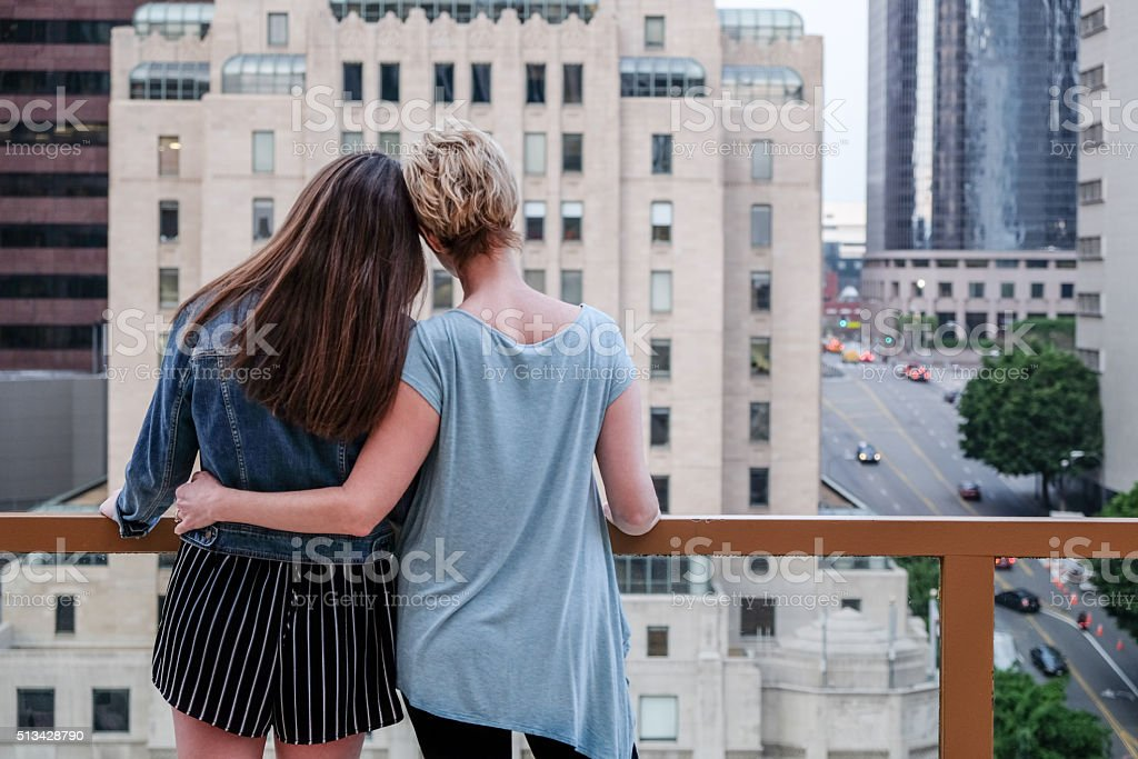 concerned  Mother and Daughter stock photo
