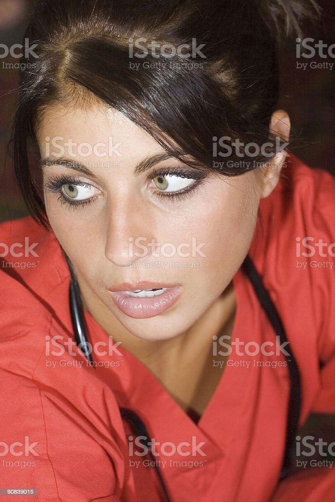 Concerned Nurse stock photo