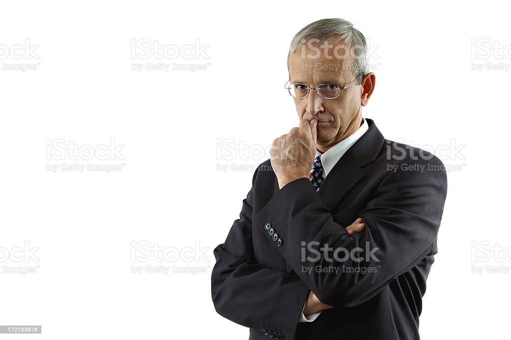 Concerned Politician royalty-free stock photo