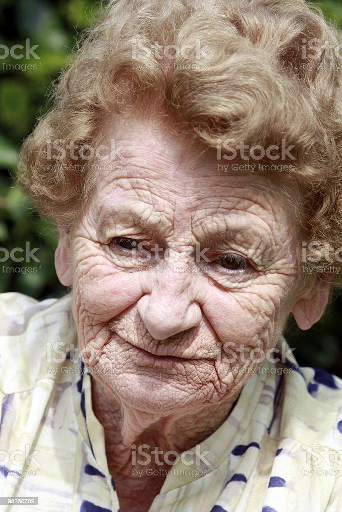 Concerned Senior lady royalty-free stock photo