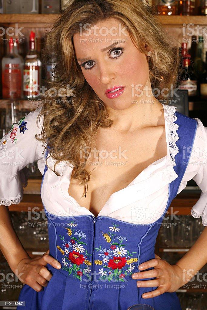 Concerned Waitress royalty-free stock photo