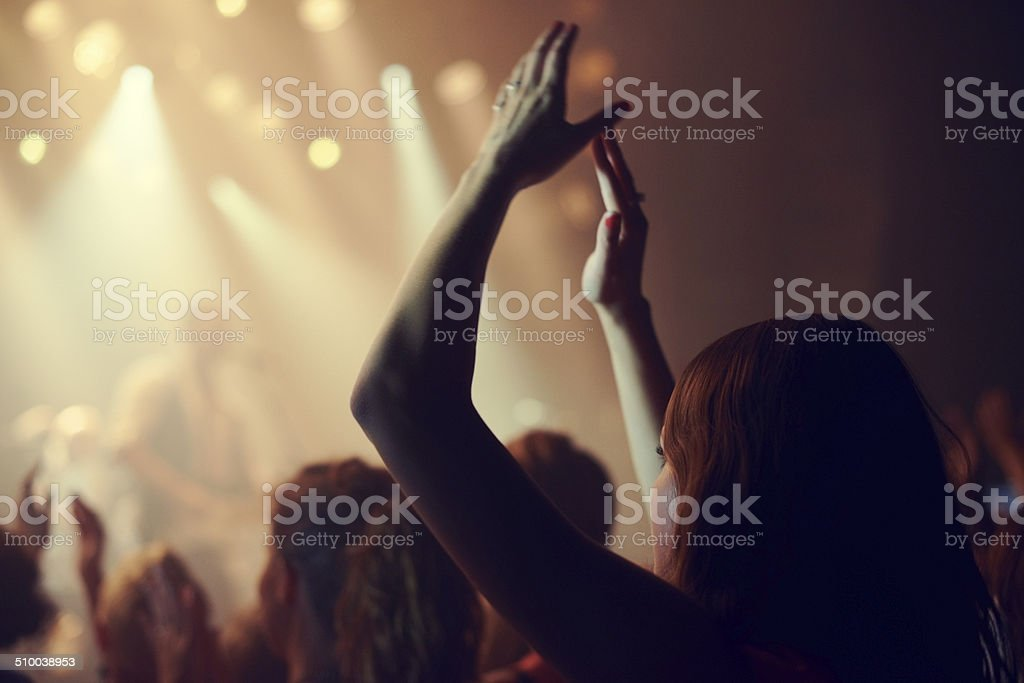 Concert bliss stock photo