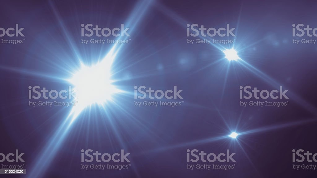 Concert blue lights stage stock photo