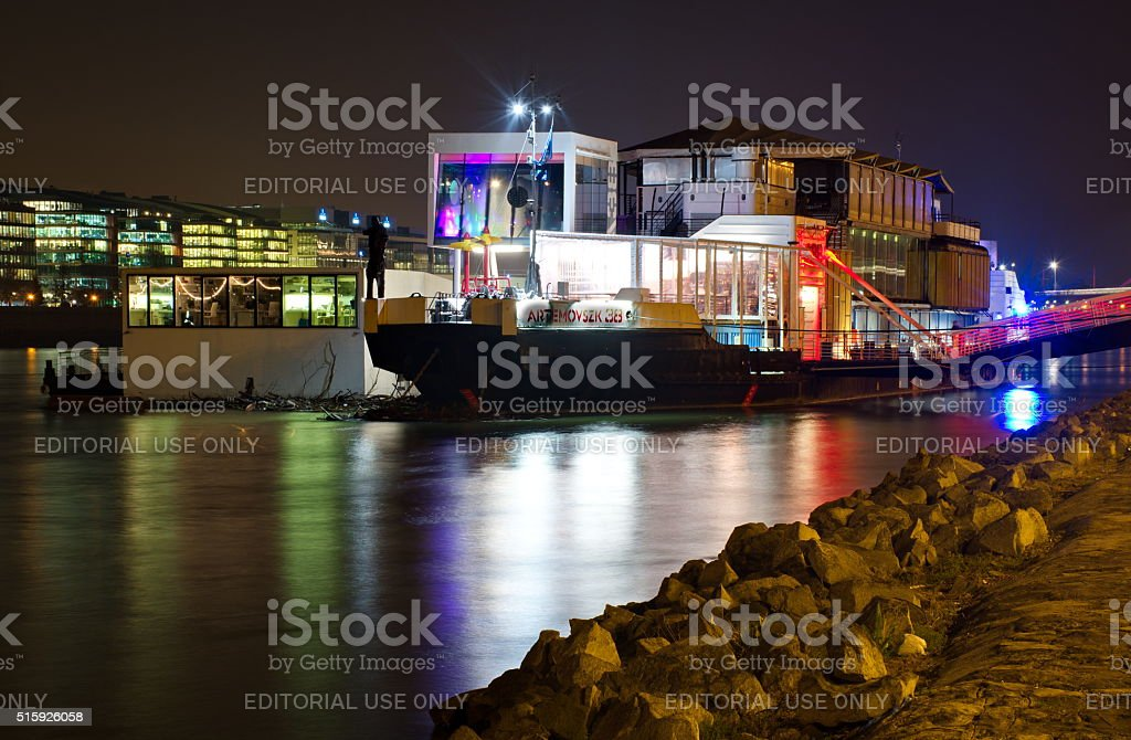 A38 concert boat in Budapest stock photo