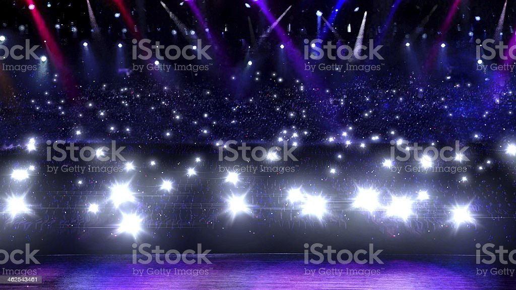 concert camera flash light stage stock photo