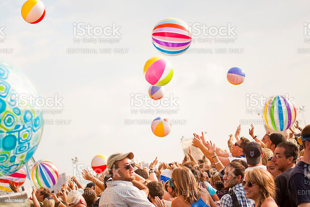 Concert Crowd at Summer Music Festival stock photo
