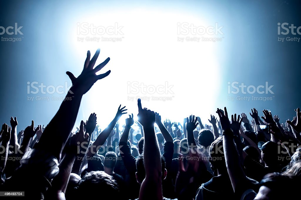 Concert Crowd stock photo
