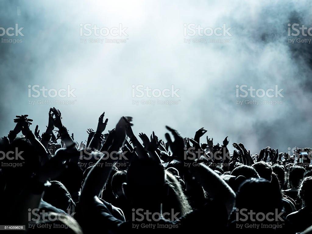 Concert Crowd stock photo