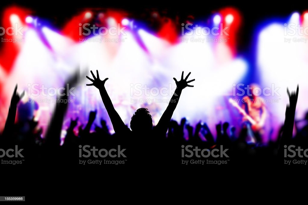 Concert Excitement royalty-free stock photo