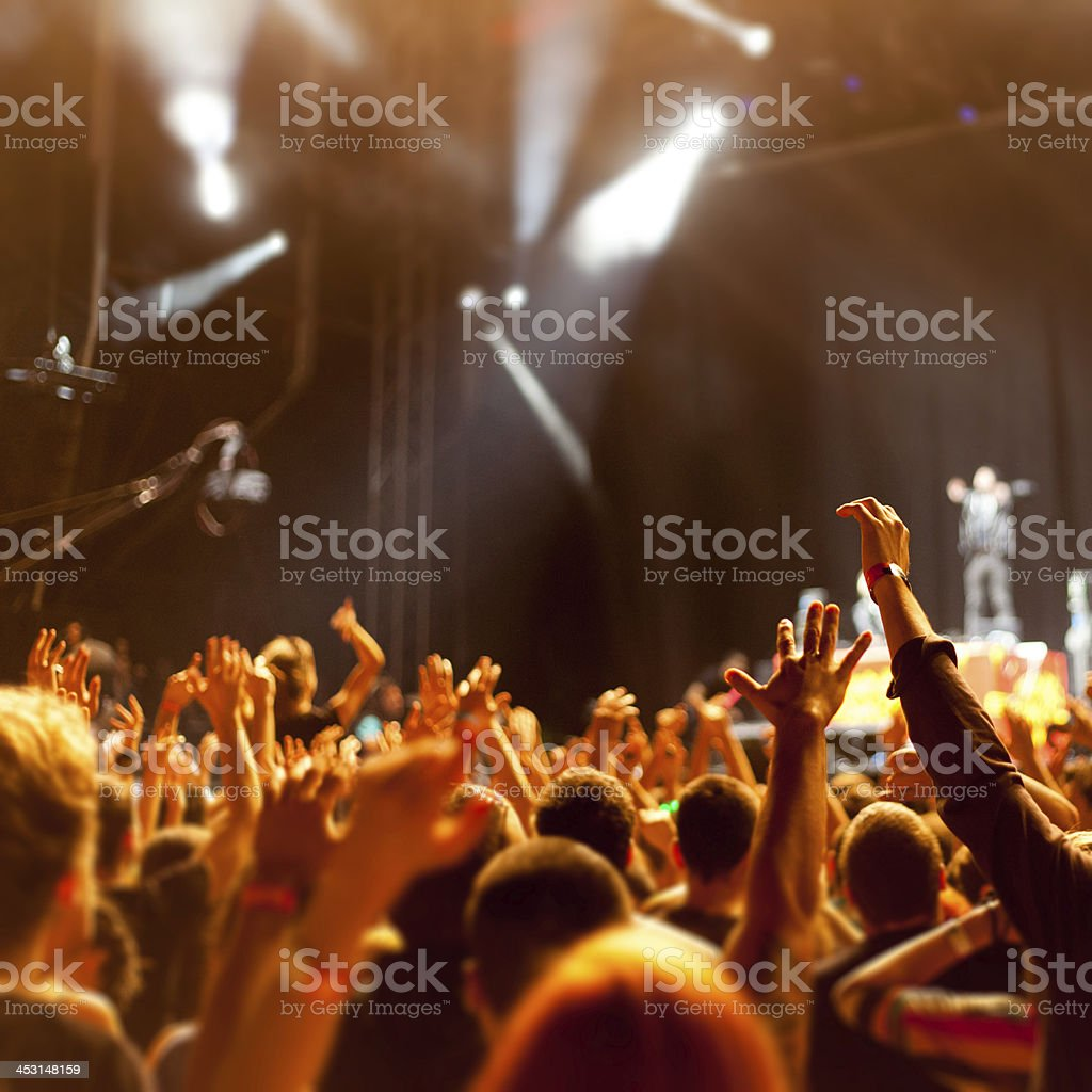 A concert filled with a lot of people  royalty-free stock photo