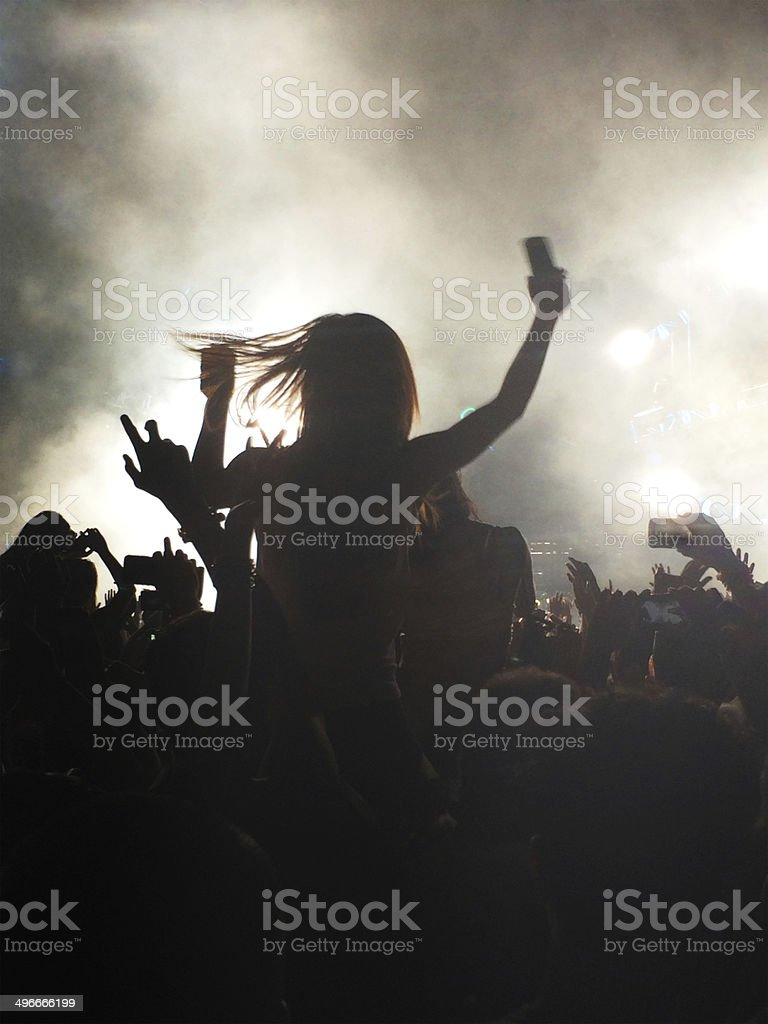 Concert Girl stock photo