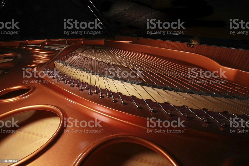 Concert Grand Piano Sound Board stock photo