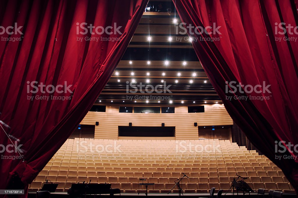Concert hall with curtain royalty-free stock photo