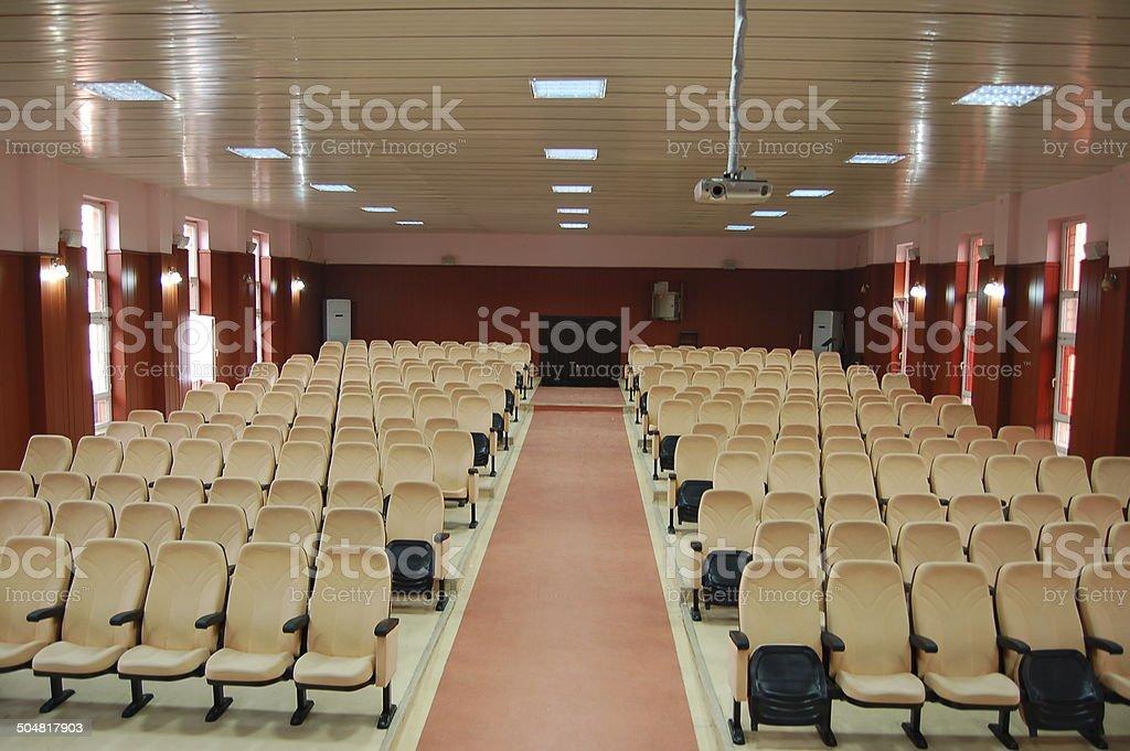Concert Hall-Auditorium stock photo