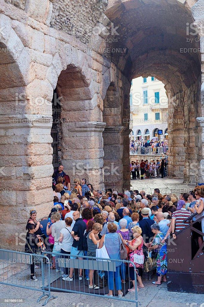 concert in Arena of Verona stock photo