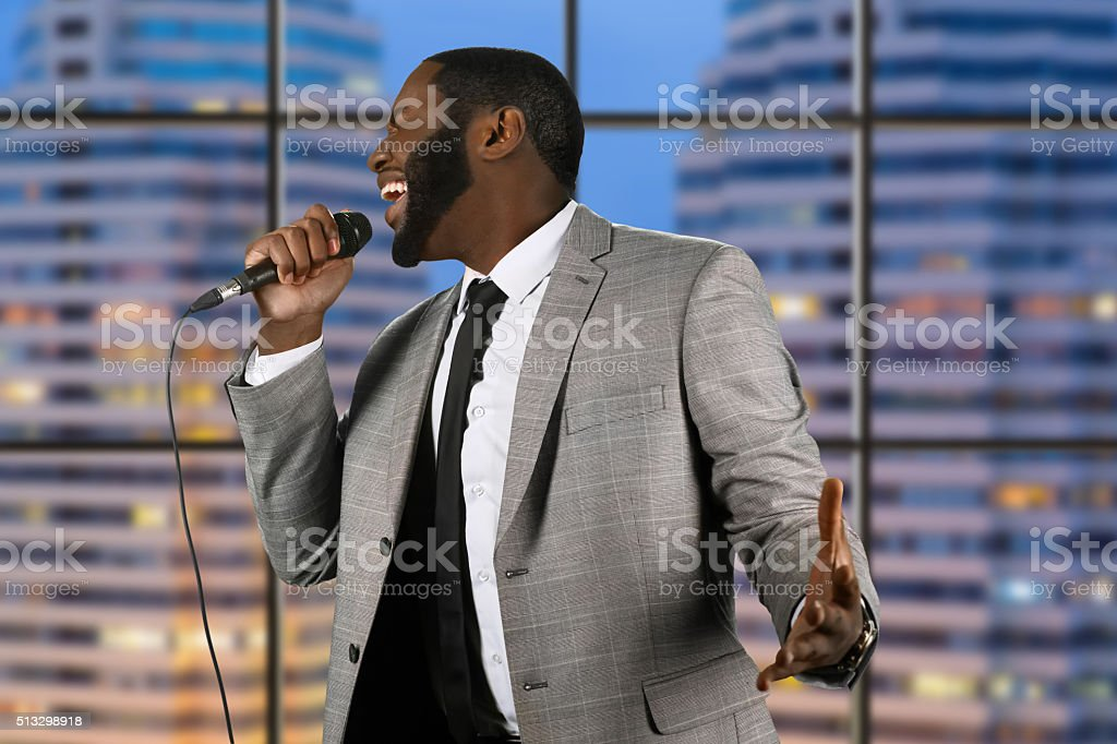 Concert in megalopolis. stock photo