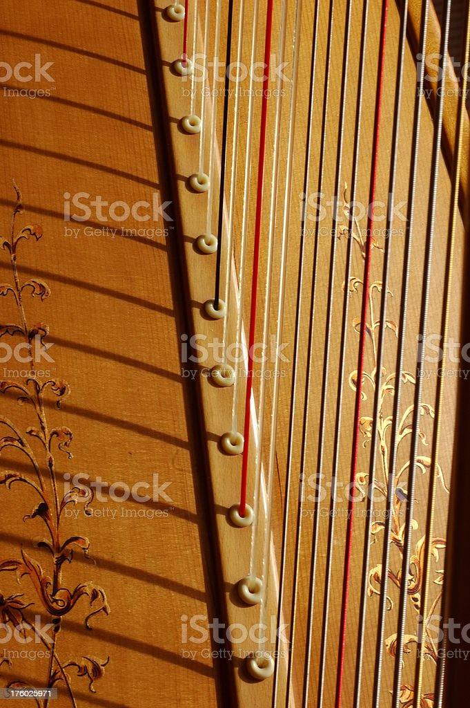Concert Pedal Harp - Macro 1 stock photo