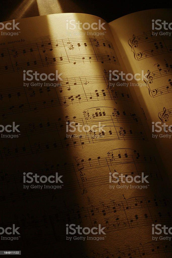 Concert score stock photo