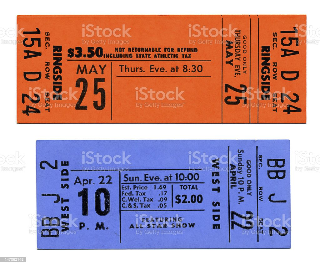 Concert & Sports Tickets stock photo