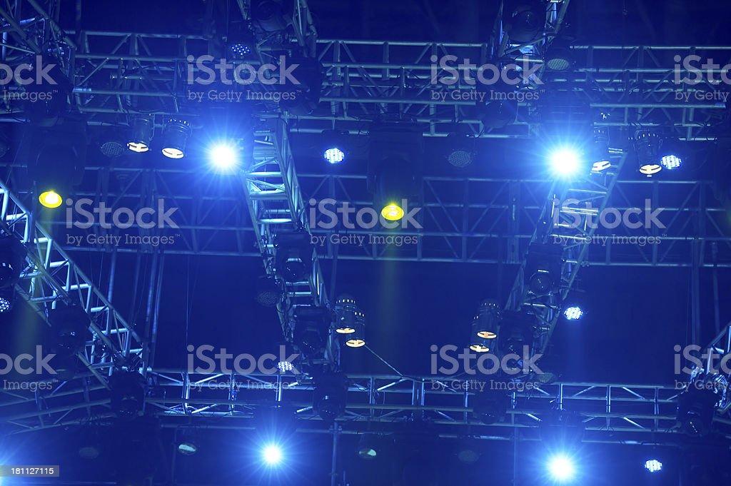 Concert Spotlights royalty-free stock photo