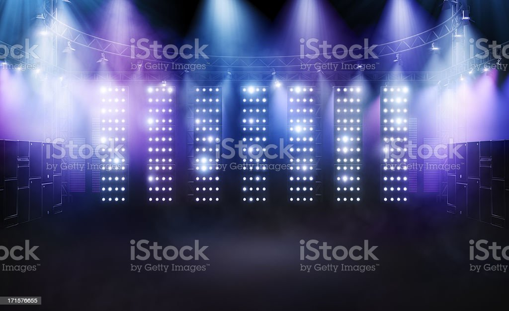 Concert stage 2 stock photo
