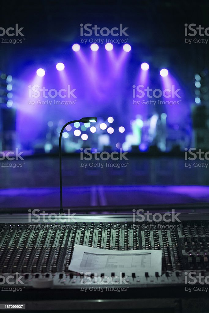 Concert stage lights stock photo