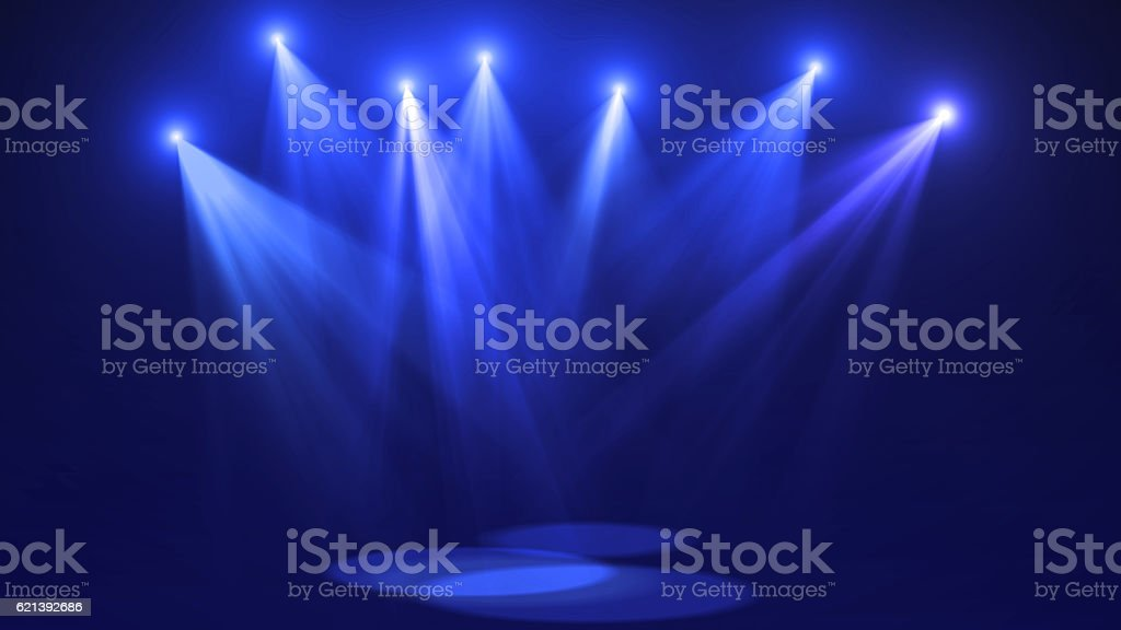 Concert stage lights (super high resolution) stock photo