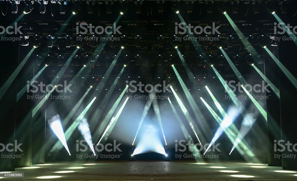 Concert stage stock photo