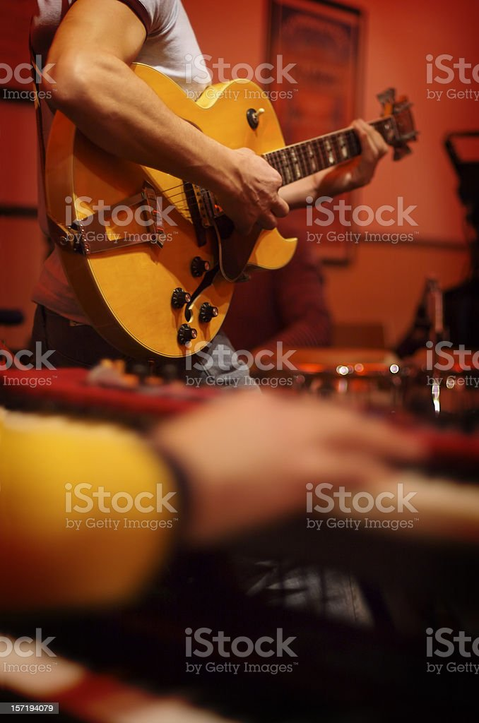 concert with guitar player stock photo