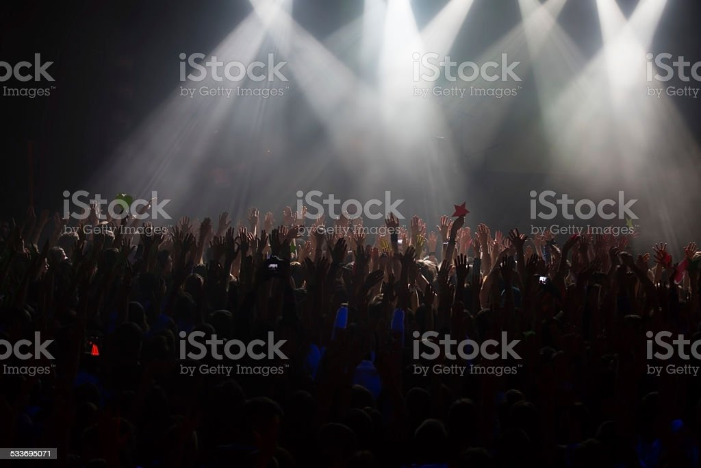 Concertgoers at an event stock photo