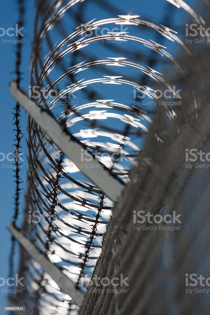 Concertina Fence stock photo