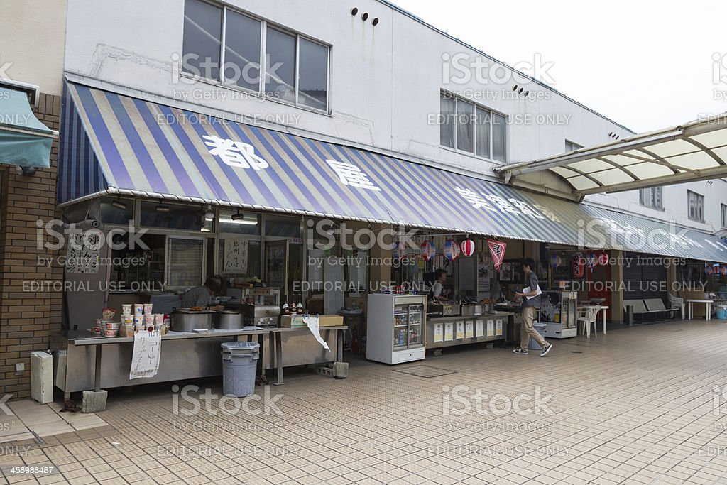 Concession stand in Japan stock photo