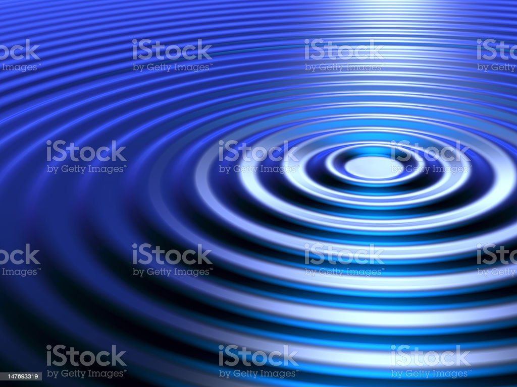 Concetric Ripples stock photo