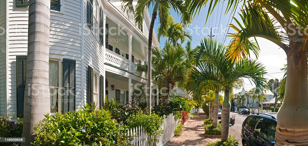 Conch house Key West Florida stock photo