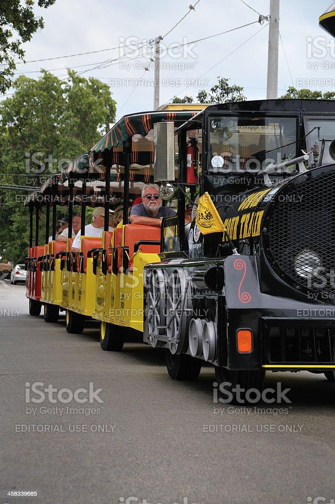 Conch Train Tourist Transportation royalty-free stock photo