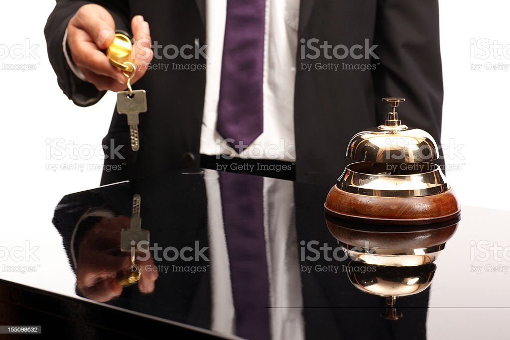 Concierge at the reception desk royalty-free stock photo